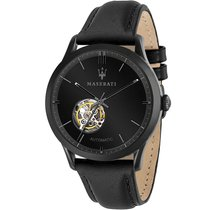 Maserati new Automatic Skeletonized 42mm Steel Mineral Glass