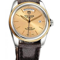Tudor Glamour Date-Day Gold/Steel 39mm Champagne