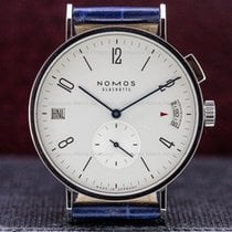 NOMOS NO635 Tangomat GMT World Time SS White Dial (29881)