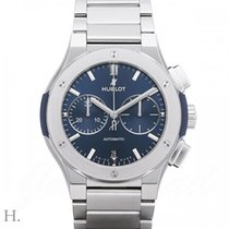 Hublot Steel Automatic Blue 45mm new Classic Fusion Chronograph