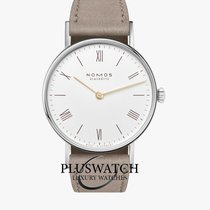 NOMOS Ludwig 33 Steel 33mm White Roman numerals