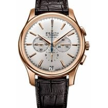 Zenith Captain Chronograph Rose gold 42mm Silver