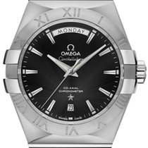 Omega Constellation Day-Date Steel 38mm Black United States of America, California, Moorpark