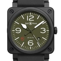 Bell & Ross BR 03-92 Ceramic Keramik 42mm Grün Arabisch