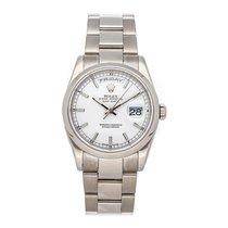 Rolex Day-Date 36 Or blanc 36mm Blanc Sans chiffres