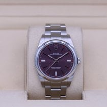 Rolex Steel Automatic Purple No numerals 39mm pre-owned Oyster Perpetual 39