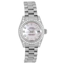 Rolex Or blanc Remontage automatique Nacre 26mm occasion Lady-Datejust