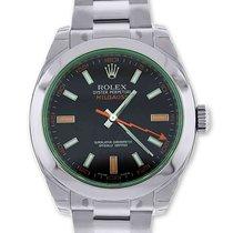 Rolex Milgauss 116400GV Green Glass Anniversary Edition Watch