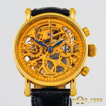 Chronoswiss Kairos Yellow gold 38 mmmm Transparent No numerals