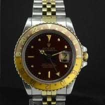 Rolex 40mm Automatic 1979 pre-owned GMT-Master Bordeaux