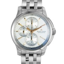 Maurice Lacroix Pontos Chronographe Staal 43mm Zilver