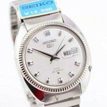 Seiko 5 Steel 36mm Silver No numerals