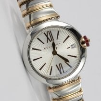Bulgari Lucea pre-owned 33mm Silver Date Gold/Steel