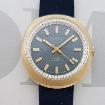 Bifora Acero y oro 36mm Cuerda manual Vintage NOS Bifora Olympia 17 Jewels nuevo