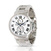 Ulysse Nardin Marine Chronometer 43mm Сталь 43mm Белый Римские