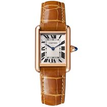 Cartier Rose gold Manual winding Silver Roman numerals 29.5mm new Tank Louis Cartier