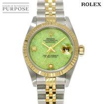 Rolex Lady-Datejust Zlato/Zeljezo 26mm Zelen