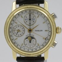 "Davosa Hasler & Co. ""Chrono Automatic"" 18K gold case"