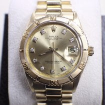 Rolex 1625 Datejust Thunderbird 18k Yellow Gold Diamond Dial