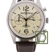 Bell & Ross Aviation 41mm Beige Dial BRV126-BEI-ST NEW