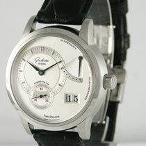 Glashütte Original 39mm Manual winding 2003 pre-owned PanoReserve Silver