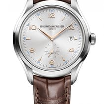 Baume & Mercier Clifton Steel 41mm Silver Arabic numerals United States of America, New York, New York