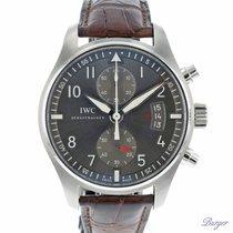 IWC Pilot Spitfire Chronograph Staal 43mm Grijs Arabisch Nederland, Maastricht