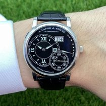 A. Lange & Söhne Steel Automatic Black 42mm pre-owned Grand Lange 1