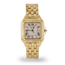 Cartier Panthère Yellow gold 22mm Silver Roman numerals United States of America, Texas, Dallas