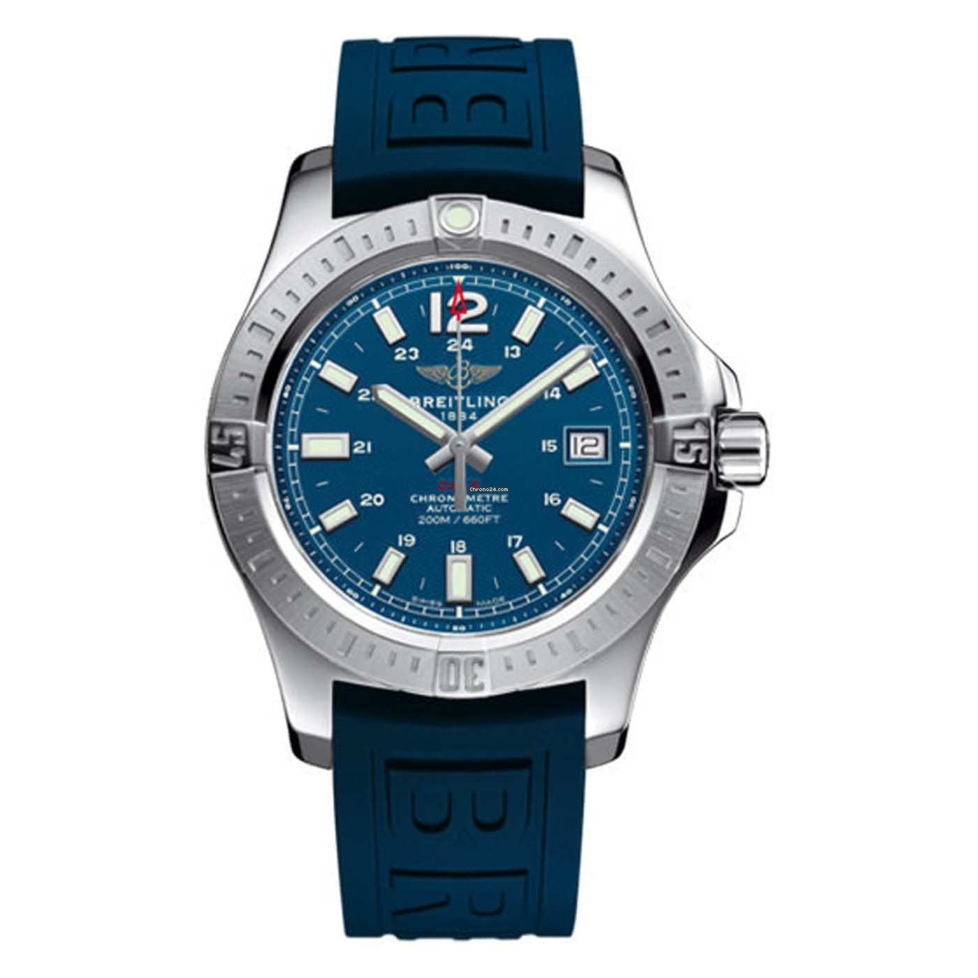 268dbf9e2cb Breitling Colt Chronometer Automatic Blue Dial Mens Watch... for $2,400 for  sale from a Trusted Seller on Chrono24