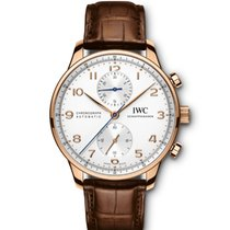 IWC Portuguese Chronograph Or rouge 40.9mm Argent Arabes