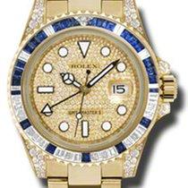 Rolex 116758 SA pave Zuto zlato GMT-Master II 40mm rabljen