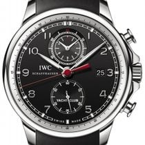 IWC Portuguese Yacht Club Chronograph Staal 45.4mm Zwart Geen cijfers Nederland, Amsterdam
