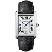 Cartier Tank Solo XL | Stainless Steel on Calfskin Date |...