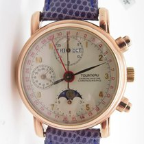 Tourneau Chronograph Moonphase Triple Calendar 18k Rose Gold...