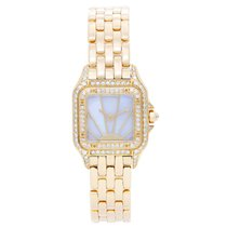 Cartier Panther Ladies 18k Yellow Gold Sunrise Dial Watch...
