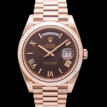 Rolex Day-Date 40 Rose gold 40.00mm Brown United States of America, California, San Mateo