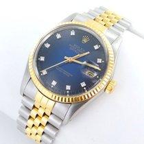 Rolex Datejust Herren Uhr Mit Diamanten Stahl Gold Ref 1601 A Vendre