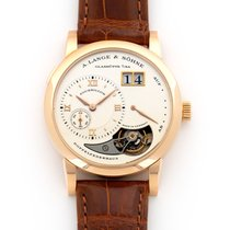 A. Lange & Söhne Red gold Manual winding Silver 38.5mm pre-owned Lange 1