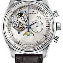 Zenith El Primero Chronomaster Ocel 45mm Stříbrná