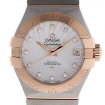 Omega Constellation Ladies Gold/Steel 27mm Mother of pearl Roman numerals