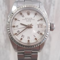 Rolex Lady-Datejust Сталь 26mm Золотой Без цифр