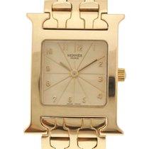 Hermès Damenuhr Heure H 30mm Quarz gebraucht Uhr mit Original-Box und Original-Papieren