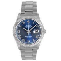 Rolex Men's Rolex Datejust Watch 16264 Blue Roman Diamond...