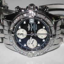 Breitling Chrono Cockpit Steel 39mm Black No numerals United States of America, New York, Wantagh