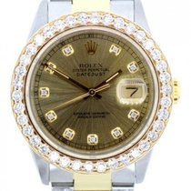 Rolex Datejust Unisex 36mm Yellow Dial Stainless Steel And...