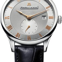 Maurice Lacroix Masterpiece Small Seconde Stahl 40mm Silber