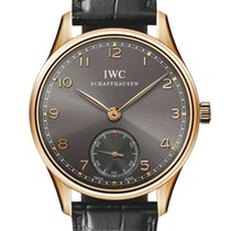 IWC Portuguese Hand Wound 18K Rose Gold Men's Watch