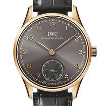 IWC Portuguese Hand Wound 18K Rose Gold Men's Watch