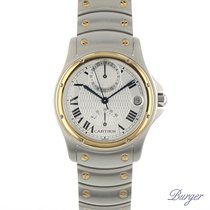 Cartier pre-owned Automatic 33.2mm Silver Sapphire Glass 3 ATM